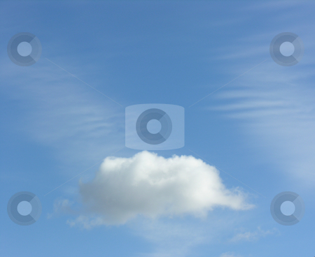 White cloud in sky stock photo,  by Kirsty Pargeter