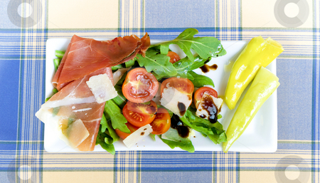 Antipasto stock photo, Antipasto on a plate by Jan Martin Will