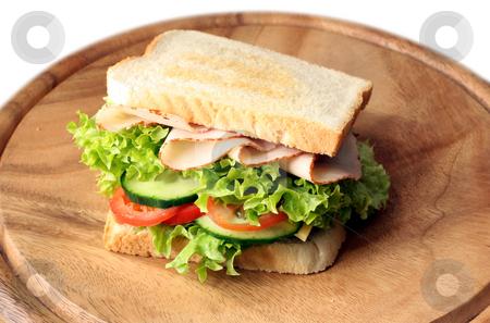 Ham and turkey sandwich stock photo,  by Jan Martin Will
