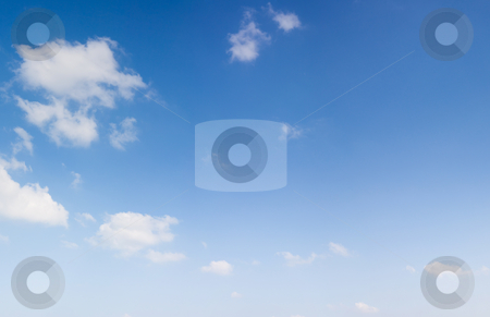 Blue sky with clouds stock photo,  by Jan Martin Will