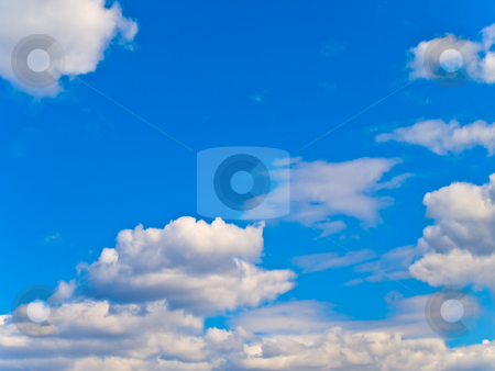 Sky stock photo, Blue sky with clouds by Sergej Razvodovskij