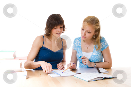Two women working together stock photo,  by Jan Martin Will