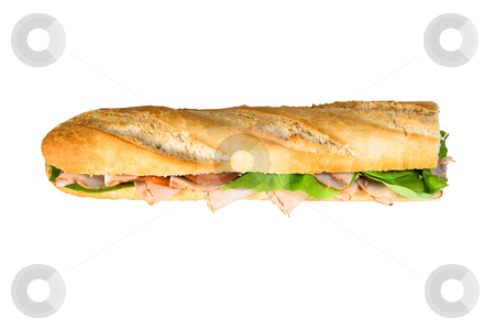 Baguette stock photo, Huge sandwich baguette by Jan Martin Will