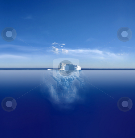 Iceberg stock photo, An iceberg above and below on its journey in the South Atlantic by Jan Martin Will