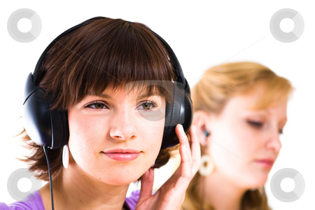 Callcenter women stock photo,  by Jan Martin Will