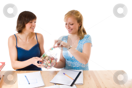 Women doing school work stock photo,  by Jan Martin Will