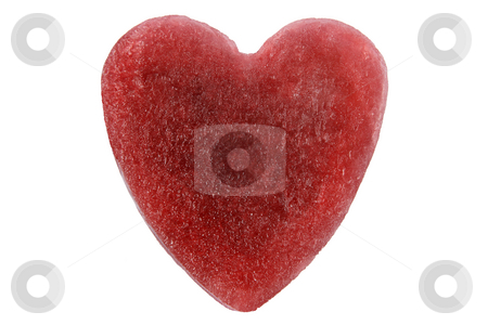 Red ice heart, isolated on a white background. stock photo, Red ice heart, isolated on a white background. by Stephen Rees