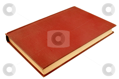 An old red book, published in 1908, with a blank cover. stock photo, An old red book, published in 1908, with a blank cover. by Stephen Rees