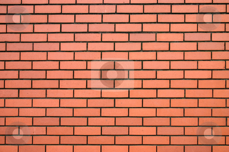 Modern red brick wall. stock photo, Modern red brick wall. by Stephen Rees