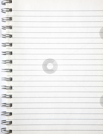 A blank page of an old notebook. stock photo, A blank page of an old notebook. by Stephen Rees