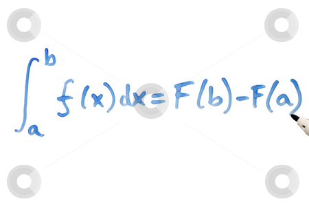 Writing a mathematical equation on a whiteboard. stock photo, Writing a mathematical equation on a whiteboard. by Stephen Rees