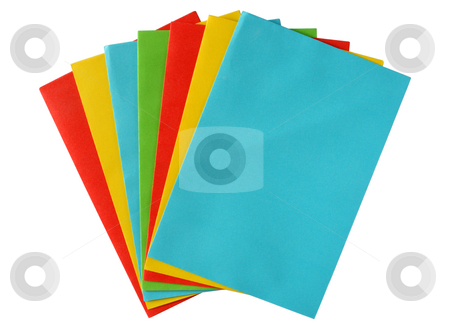 A bunch of colored envelopes. stock photo, A bunch of colored envelopes. by Stephen Rees