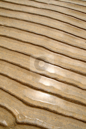 Beach sand ripples. stock photo, Beach sand ripples. by Stephen Rees