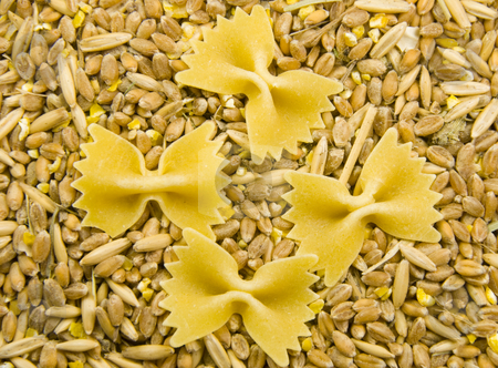 Grain and noodles stock photo, Close up shoot of grain and noodles by Wolfgang Zintl