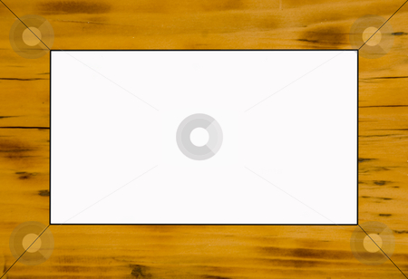 Frame stock photo, Close up shoot of a rustical wooden background frame by Wolfgang Zintl