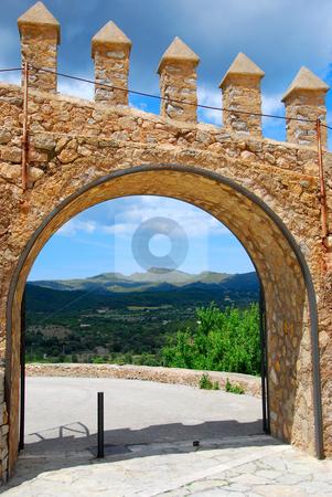 Door stock photo, Rock door on a historic castle by Wolfgang Zintl