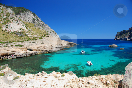 Mallorca stock photo, Beautiful beach on the island mallorca by Wolfgang Zintl