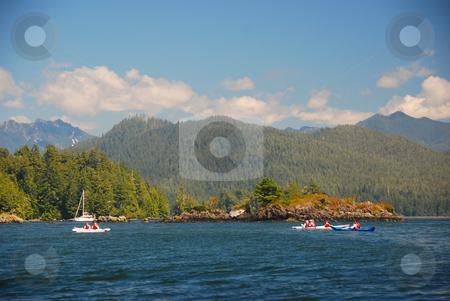 Vancouver island stock photo, Kayaking on the shoreline of Vancouver Island by Wolfgang Zintl