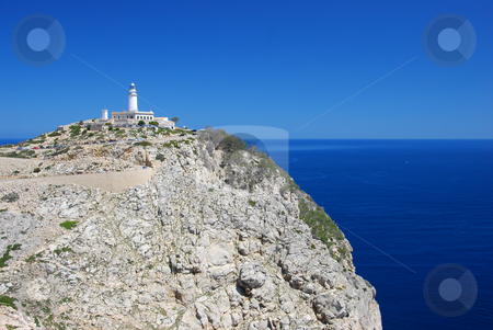Mallorca stock photo, Lighthouse on the island mallorca by Wolfgang Zintl