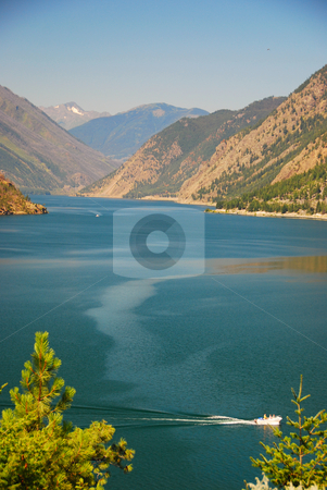 Coast mountains stock photo, Lake in the Coast mountains Canada British Columbia by Wolfgang Zintl