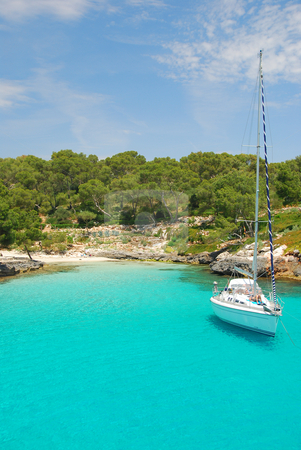 Mallorca stock photo, Beach on the island mallorca spain europe by Wolfgang Zintl