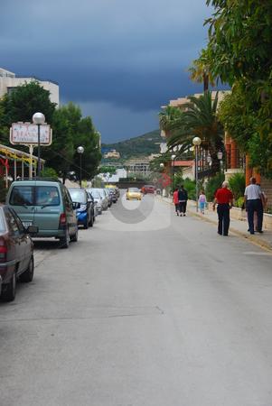 Mallorca stock photo, Busy shopping street on the island mallorca by Wolfgang Zintl