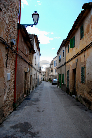 Mallorca stock photo, Small street with old houses in mallorca by Wolfgang Zintl
