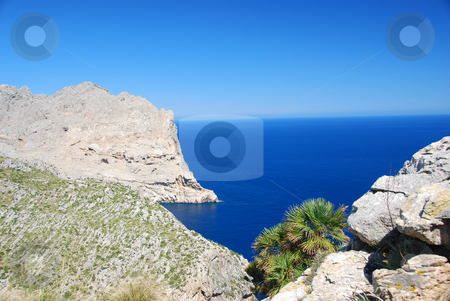 Mallorca stock photo, Beautiful view to the ocean on mallorca by Wolfgang Zintl