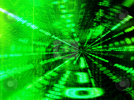 Binary tunnel stock photo, Abstract background of binary code by Kirsty Pargeter