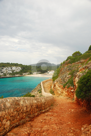 Mallorca stock photo, Coast line of the island mallorca spain by Wolfgang Zintl
