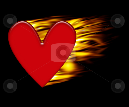 Burning heart stock photo, Burning heart background by Kirsty Pargeter