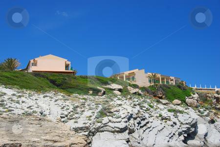 Mallorca stock photo, Houses on the beach of the island mallorca by Wolfgang Zintl