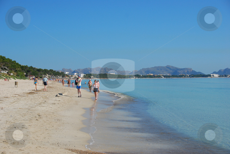 Mallorca stock photo, Beach on the island mallorca by Wolfgang Zintl