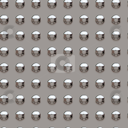 Chrome rivets stock photo, Seamless tile background of chrome rivets by Kirsty Pargeter
