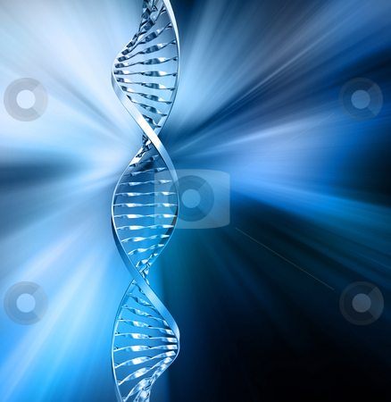 Abstract DNA stock photo, 3D render of DNA strands on abstract background by Kirsty Pargeter