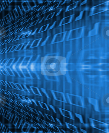 Binary flow stock photo, Abstract background of binary code by Kirsty Pargeter