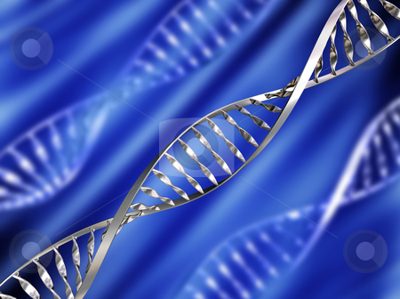 DNA background stock photo, DNA strands on abstract background by Kirsty Pargeter