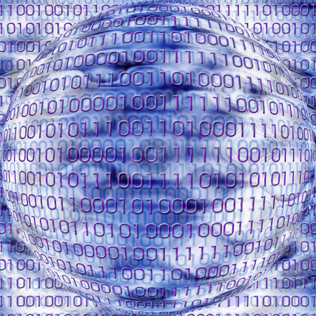 Binary Code round background stock photo,  by Kirsty Pargeter