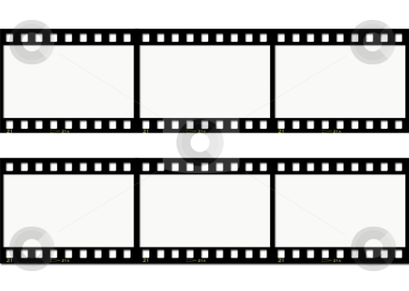 Film strips stock photo, Film strip background by Kirsty Pargeter