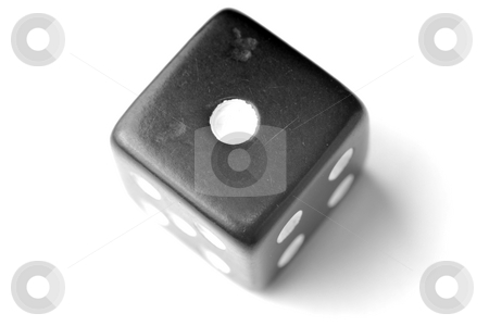 Black Die 1 - One at top stock photo, Black Die on White - One at top. Similar images of 1-6 exists by Gjermund Alsos
