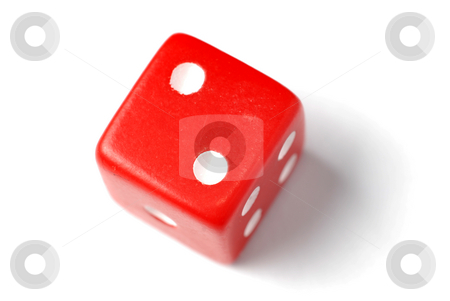 Red Die - Two at top stock photo, Blue Die on White - Two at top. Similar images of 1-6 exists by Gjermund Alsos