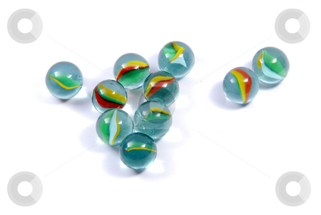 Marbles stock photo, Marbles isolated on white background by Gjermund Alsos