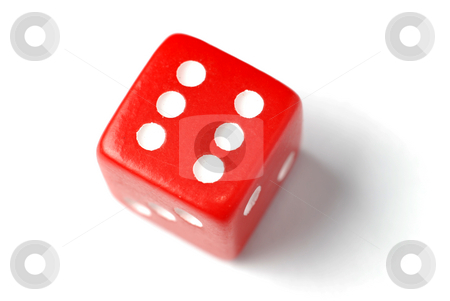 Red Die - Six at top stock photo, Blue Die on White - Six at top. Similar images of 1-6 exists by Gjermund Alsos