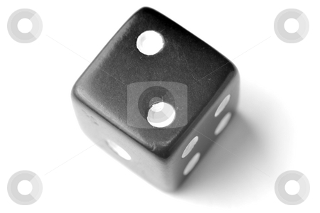 Black Die 2 - Two at top stock photo, Black Die on White - Two at top. Similar images of 1-6 exists by Gjermund Alsos
