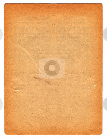 Old paper stock photo, Background of old stained paper by Kirsty Pargeter
