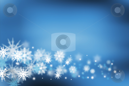 Snowflakes stock photo, Background of many snowflakes by Kirsty Pargeter