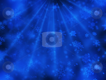 Snowflakes stock photo, Abstract snowflake background by Kirsty Pargeter
