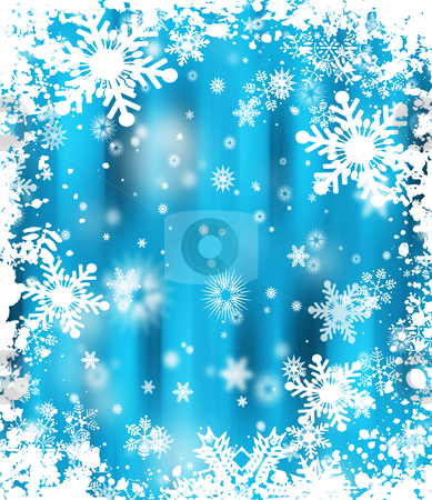 Grunge snowflakes stock photo, Grunge snowflake background by Kirsty Pargeter