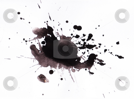 Ink splat stock photo, Ink splat detail by Kirsty Pargeter