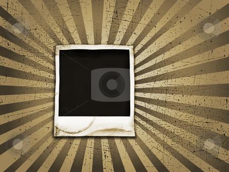 Grunge polaroid stock photo, Grunge polaroid on textured starburst background by Kirsty Pargeter